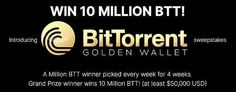 BitTorrent Announces Golden Wallet Sweepstakes 10 Million Btt Giveaway - Crypto Market Crypto Market, Thinking Of You, Giveaway, The Incredibles, Wallet, Thinking About You, Purses, Diy Wallet, Purse