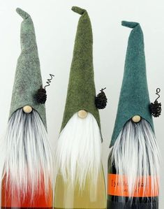 These THREE gnome wine bottle toppers are so darling!! Made from one of my favorite designs, HADMAR the SILENT ~ just perfect for your friends and family who are gnome lovers. HADMAR is a woodland gnome who is known by many as being a bit sneaky. He can find his way through the quiet #winebottle