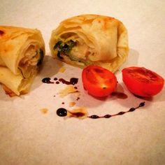Mine matskriblerier: Filopakke med spinat, feta og bønner
