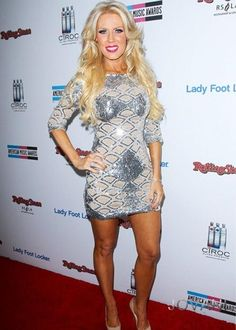 Gretchen Rossi from Bravo's The Real Housewives of Orange County wore Jovani style 7749! and Hair Extensions