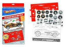 Hot Wheels Car Design Compact Sketch Portfolio by Fashion Angels. $9.80. Contains 40 drawing sheets featuring four different cars. Includes 24 foil stickers. Age 4+. Design your dream Hot Wheels Car using this sketch portfolio. Includes stencils with 62 items. It's easy to design dream cars for Hot Wheels® with the Compact Car Design Sketch Portfolio! Use the removable plastic stencils to trace the perfect decals and logos on the Hot Wheels® sketch sheets. T...