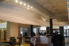 Creative Light Installation: Glacier Ribbon Ceiling Feature by Lumicor