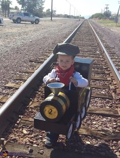 Train and Engineer - Homemade Halloween Costume