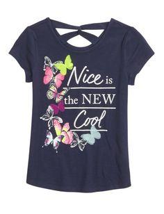 Embellished Loop Back Top | Girls Fashion Tops Tops | Shop Justice