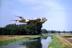 A Victor K1 of 55 Squadron landing at RAF Gütersloh.- looks almost as if it's sitting on that bush
