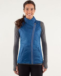 Lululemon Running vest... So cute, I'd wear it with normal clothes too    RUN:What The Fluff Vest