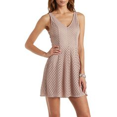 Shadow Stripe Skater Dress
