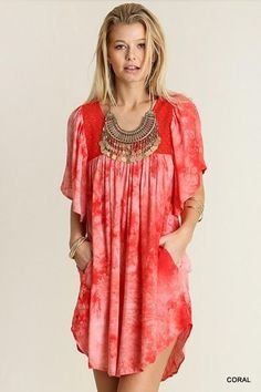 High Tide Dress with Pockets #dresseswithpockets #dresses #red #tyedie