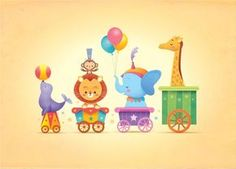 This would also be very cute on the wall.  Kawaii Circus Parade by Jerrod Maruyama