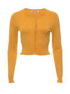 Maggie Long Sleeve Cardi | Mustard | Cardigan Mustard Cardigan, Fashion Beauty, Women's Fashion, Vintage Inspired Dresses, Review Fashion, Occasion Wear, Winter 2017, Unicorns, My Wardrobe