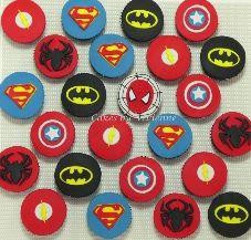 Superhero Cupcakes, Batman Cupcakes, Superman Cupcakes, Spiderman Cupcakes, Captain America Cupcakes, Superhero fondant toppers