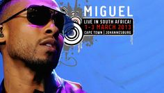 American RnB singer Miguel is in South Africa for a three day tour! New Africa, South Africa, Mtv Shows, Latest Music Videos, Day Tours, New Music, Pop Culture, Mirrored Sunglasses, Audio