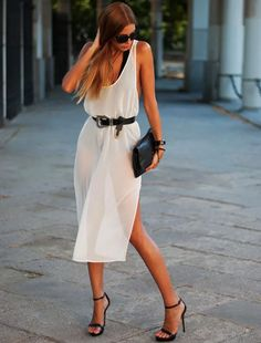 maio preto vestido transparente street style