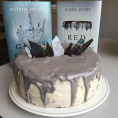 Cake recipe inspired by Red Queen and Glass Sword by Victoria Aveyard