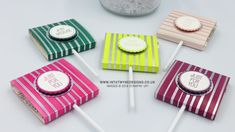 Customer Thank You Treats - Lollypop Holders using Springtime Foil DSP