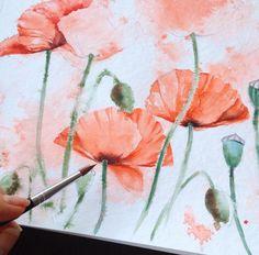 Beauty Flowers in Watercolor Paintings By: Russian Artist Elena
