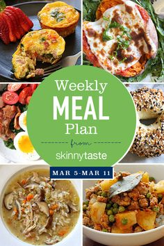 Skinnytaste Meal Plan (March 5-March 11)