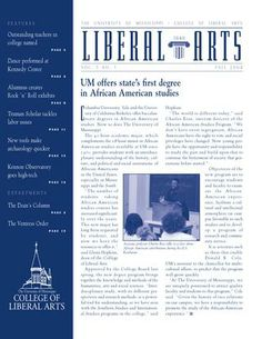 The University of Mississippi College of Liberal Arts Fall 2004 Newsletter