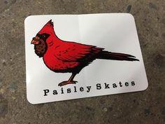 Paisley Skates Bearded Bird Sticker White
