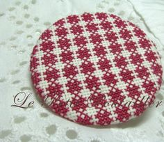 Quilt Pattern Hand Crafted Cross Stitch Statement Brooch or Pin ... in my shop now!