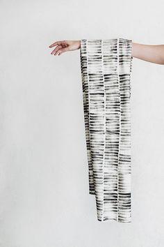 diy stamped scarf
