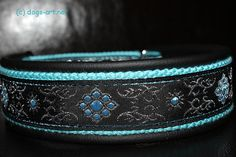 dogsart FLOWER STAR Martingale Leather Collar  by dogsartcollars, $32.00