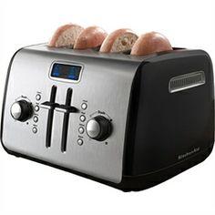 4-Slice Toaster - Black