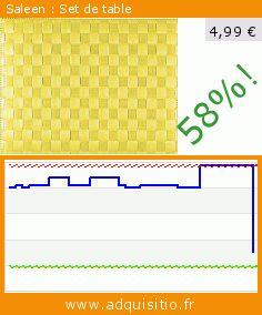 Saleen : Set de table (Cuisine). Réduction de 58%! Prix actuel 4,99 €, l'ancien prix était de 11,77 €. https://www.adquisitio.fr/saleen/set-table-0