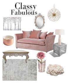 """""""Classy & Fabulous"""" by kimberly-gooden-bumpas on Polyvore featuring interior, interiors, interior design, home, home decor, interior decorating, Hudson Valley Lighting, Arktura and Yosemite Home Décor"""