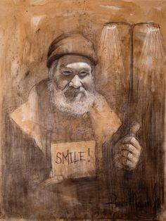"Saatchi Art Artist Ricardo Miranda; Drawing, ""Smile"" #art"