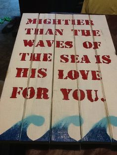 Sign for baby nautical room, made from old fence pickets. Boys Nautical Bedroom, Nautical Baby, Old Fences, Sea Theme, Furniture Arrangement, Room Themes, Love And Marriage, Boy Room, Baby Boy Shower