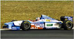 Gerhard Berger Benetton Renault  B197 1997 F1 Silverstone test Gerhard Berger, Acura Nsx, New Honda, Benetton, Jaguar, Racing, History, Vehicles, Motor Sport