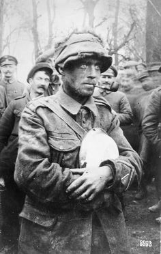 Private of the Royal Irish Rifles, taken prisoner by the Germans, April 1918. THE GERMAN SPRING OFFENSIVE, MARCH-JULY 1918. WWI