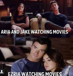 This is just one of the MANY  reasons why I don't like Jake. He doesn't like anything Aria does. This is why Ezria needs to be together again. Even if Ezra is -A.