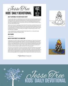 Kids Jesse Tree Devotional Day 16