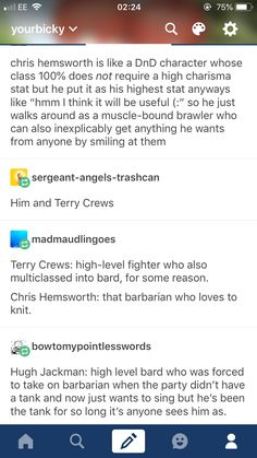 Actors with D&D stats lol Tumblr Stuff, Tumblr Posts, Dnd Funny, Hilarious, Dungeons And Dragons Memes, Dragon Memes, Geek Out, Text Posts, Tumblr Funny