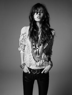 SAINT LAURENT 'PSYCH ROCK'S NEW RISING' RESORT 2015 COLLECTION GRACE HARTZEL BY HEDI SLIMANE