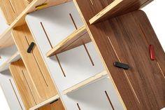 3xDYNKS regał modułowy ze sklejki polski design Mebloscenka Home, Shelf, Projects, House, Ad Home, Homes, At Home, Houses