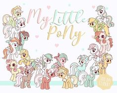 My little pony Clip Art Mini pony clipart 300 dpi Png