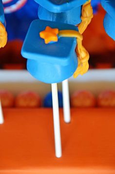 Orange/blue Graduation/End of School Party Ideas | Photo 16 of 40 | Catch My Party