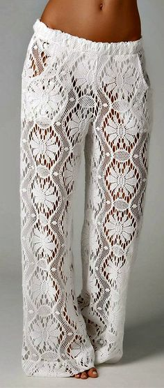 Lace pants - at the beach perfect; in the bedroom sublime.