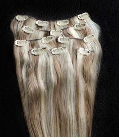 Full Head 24 100% Highlighted REMY Human Hair Extensions 7Pcs Clip in 8/613 Light Brown Blonde Mix >>> This is an Amazon Affiliate link. Find out more about the great product at the image link.