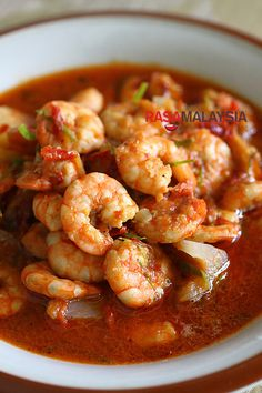 Sambal Udang (Prawn Sambal) - authentic recipe from rasamalaysia.com