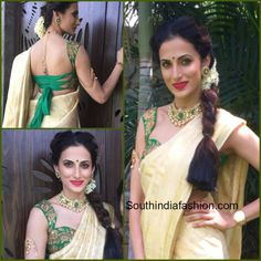 8 Trendy Blouse Designs to Try to with Silk Sarees like Shilpa Reddy