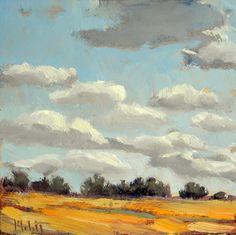 Heidi Malott Original Paintings: Heidi Malott Daily Oil Painting Impressionist Landscape