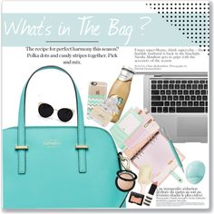 What's in the bag by dian-lado on Polyvore featuring Mode, Kate Spade, Una-Home, Casetify, Sephora Collection, Topshop, NARS Cosmetics, Marc Jacobs, Eos and Faber-Castell