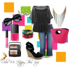 Color Me Happy, Plus Size, created by redheaded-diva on Polyvore