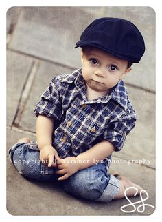 Plaid shirts are always an adorable look for little boys. Pair with jeans, boots, hat, and even maybe suspenders.