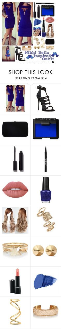 """""""Nikki Bella Inspired Outfit"""" by blackwidow7866 ❤ liked on Polyvore featuring Giuseppe Zanotti, Sergio Rossi, NARS Cosmetics, Chanel, Trish McEvoy, Lime Crime, OPI, Topshop, River Island and Eddie Borgo #sergiorossioutfit"""