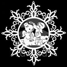 Vločka složitá - sněhulák a anděl